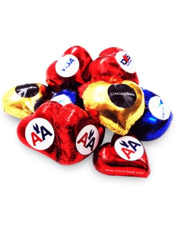 corazones de chocolate personalizados