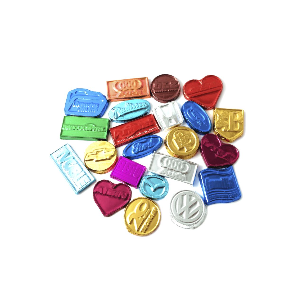 chocolates personalizados monedas de chocolate Ecuador