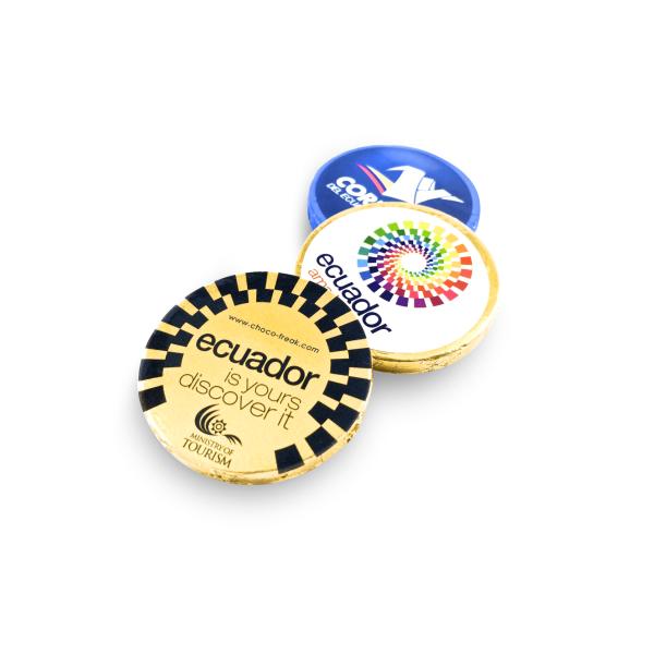 Chocolates personalizados con tu logotipo, artículos promocionales originales Ideales como regalos corporativos. Envío a Quito, Guayaquil, Cuenca y Ecuador.