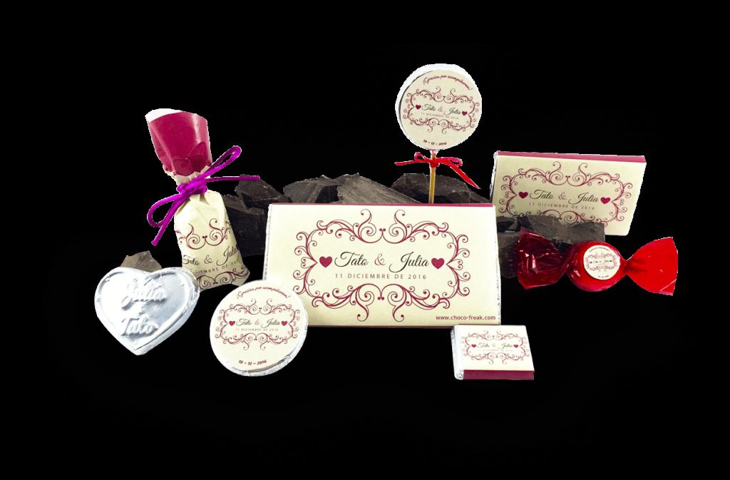 Chocolates personalizados para bodas y matrimonios, recuerdos originales para Matrimonios.