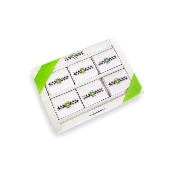 Caja de chocolates 6tab para regalo corporativo