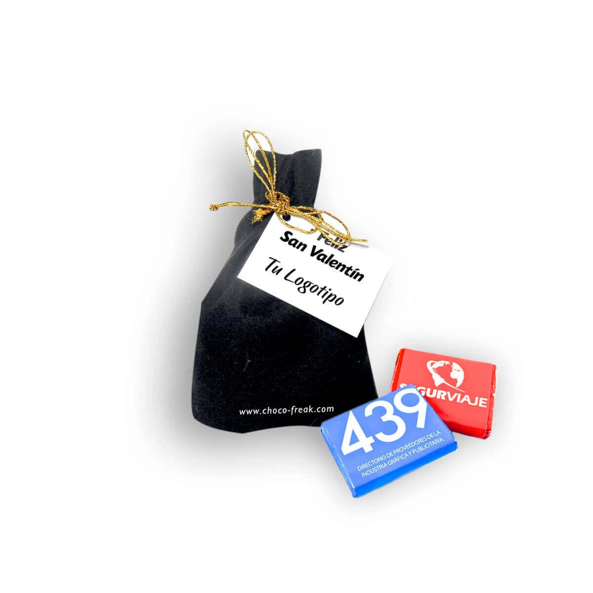 Regalos empresariales ecuador gift bag de tela con chocolates