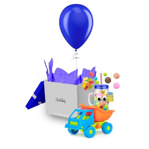 Mason Jar con dulces y juguete. Regalo a domicilio para niños Quito Guayaquil Cuenca Ecuador
