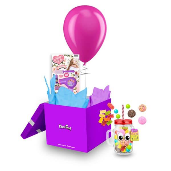 Mason Jar con dulces y juguete de niña. Regalo a domicilio para niñas Quito Guayaquil Cuenca Ecuador