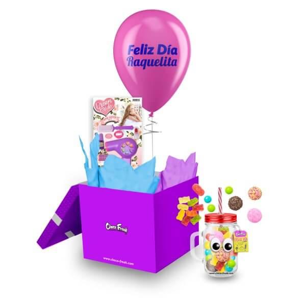 Regalo personalizado para niña. Juguete con Jarro Mason jar y dulces Quito Guayaquil Ecuador